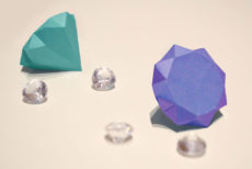 How to Fold Paper Diamonds