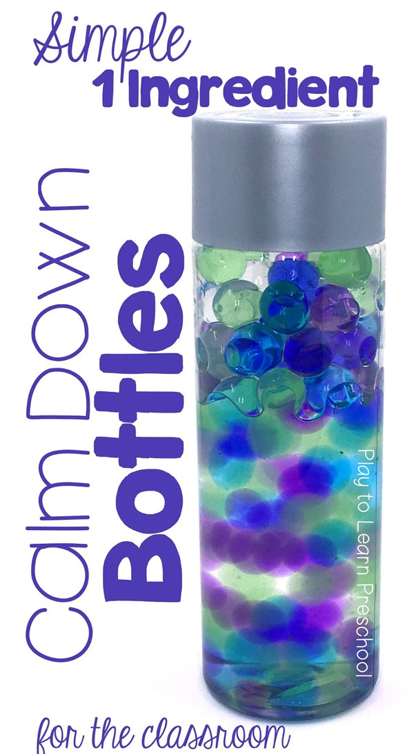 Water Beads Calm Down Bottles - Mommy Scene