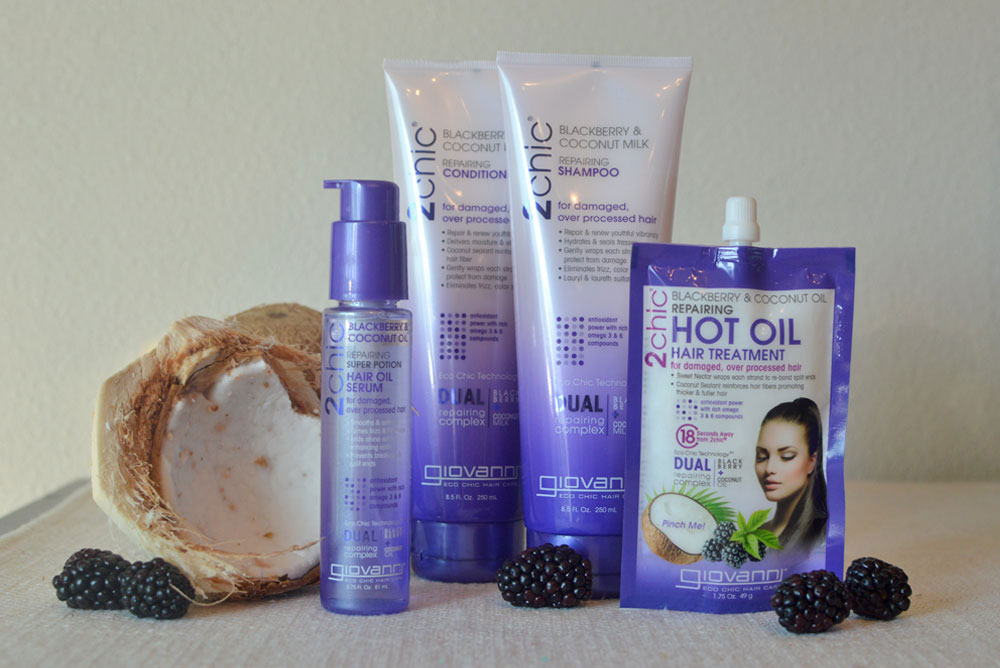 Giovanni 2chic Ultra Repair Blackberry and Coconut Milk shampoo and conditioner review - Mommy Scene