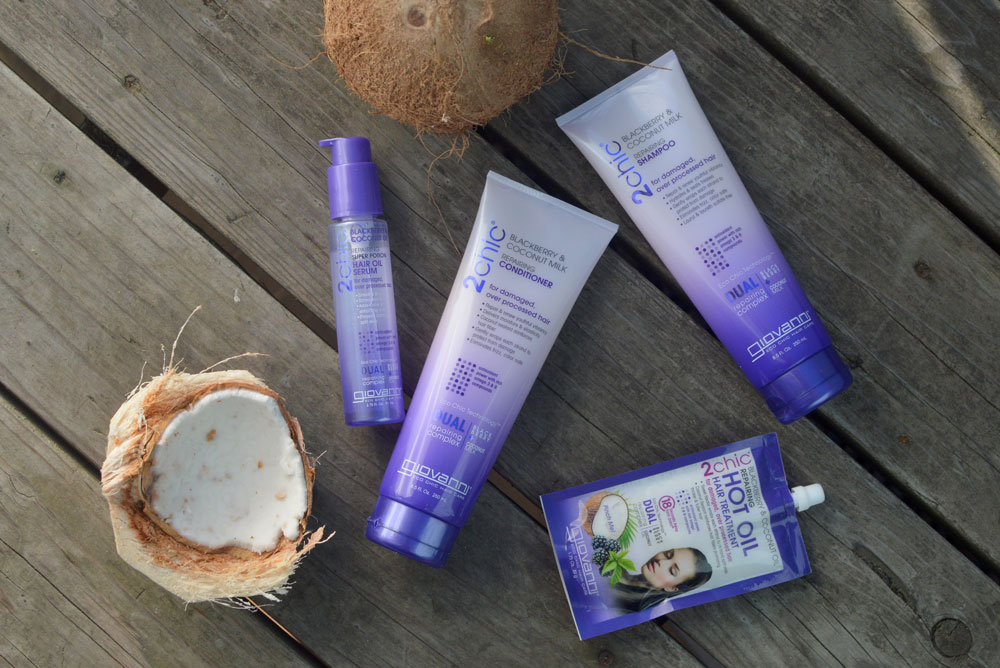 Giovanni 2chic Ultra Repair Blackberry and Coconut Milk hair care - Mommy Scene