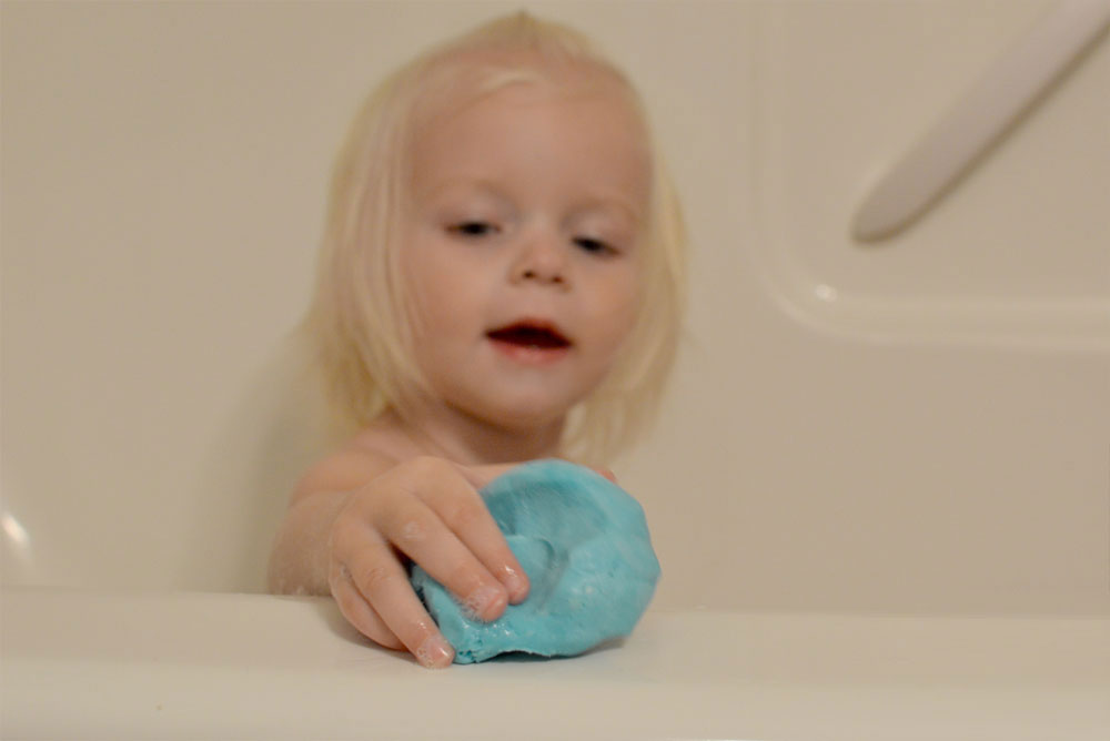 Sudsy Dough Moldable Soap kids bath activity - Mommy Scene review