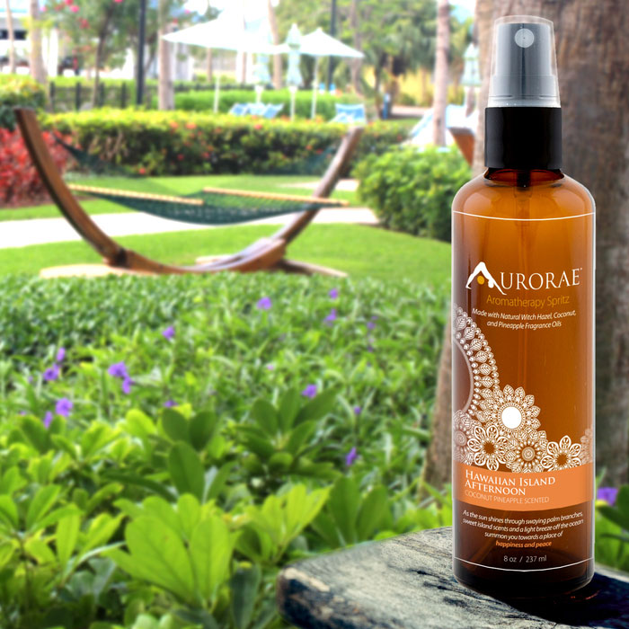 Aurorae Hawaiian Island Afternoon Coconut Pineapple Aromatherapy Spritz - Mommy Scene Holiday Gift Guide