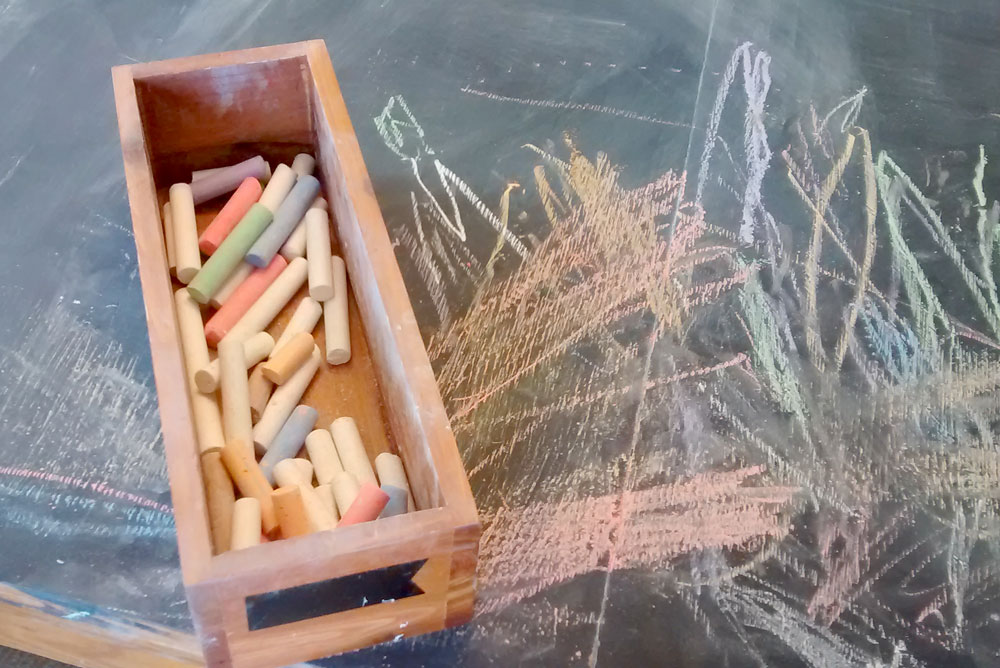 DIY Chalk Table for creative kids - Mommy Scene