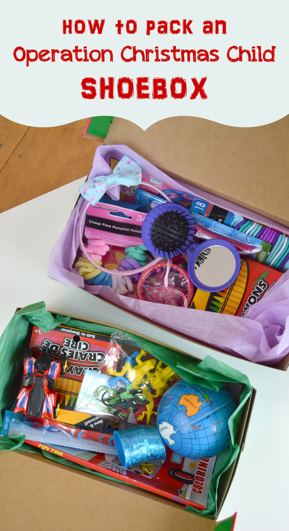 How to Pack an Operation Christmas Child shoebox and kids gift ideas - Mommy Scene
