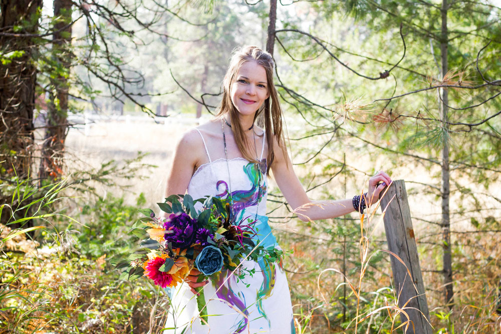 Colorful Trash the Dress wedding photos - Mommy Scene