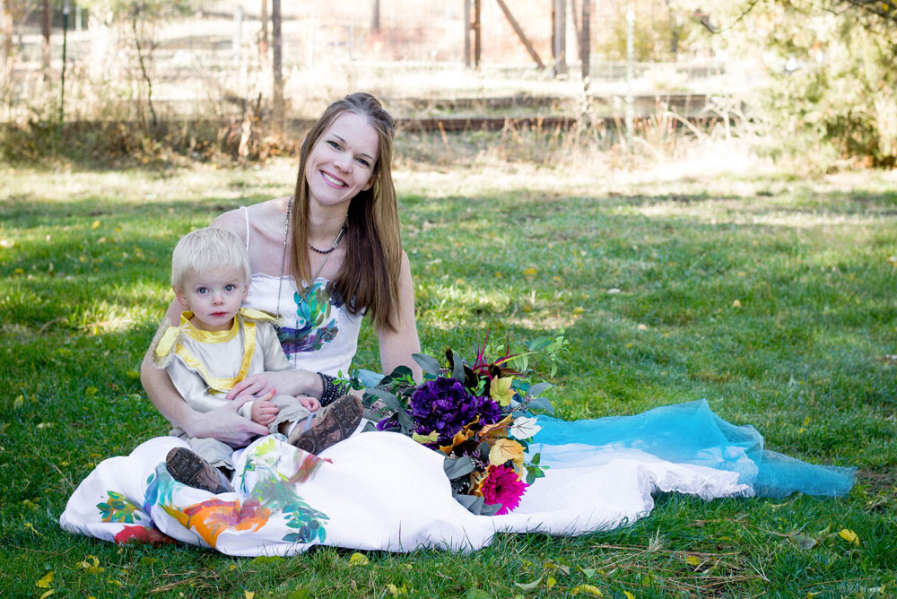 Colorful fall wedding photos and cute baby boy - Mommy Scene