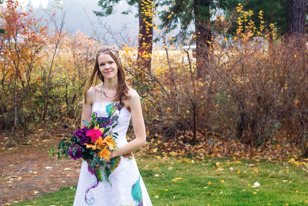 Fall themed colorful trash the dress wedding photos - Mommy Scene