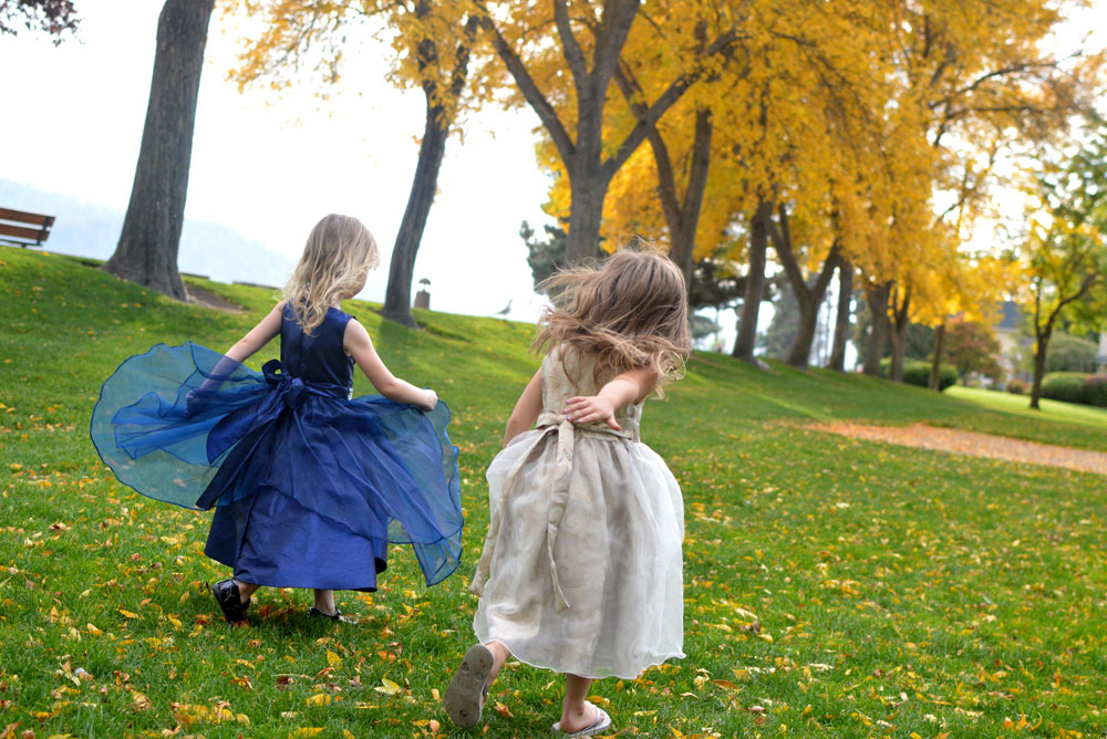 Playing at the park in Just Unique Boutique dresses for girls - Mommy Scene